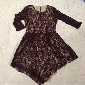 bar iii front row Lace Illusion Dress